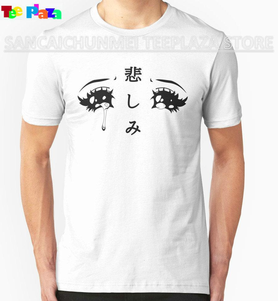 2017 Time-limited Promotion Fashion Cotton Print Teeplaza Cool T Shirt Designs Regular Anime Eyes O-neck Short-sleeve Mens Tee
