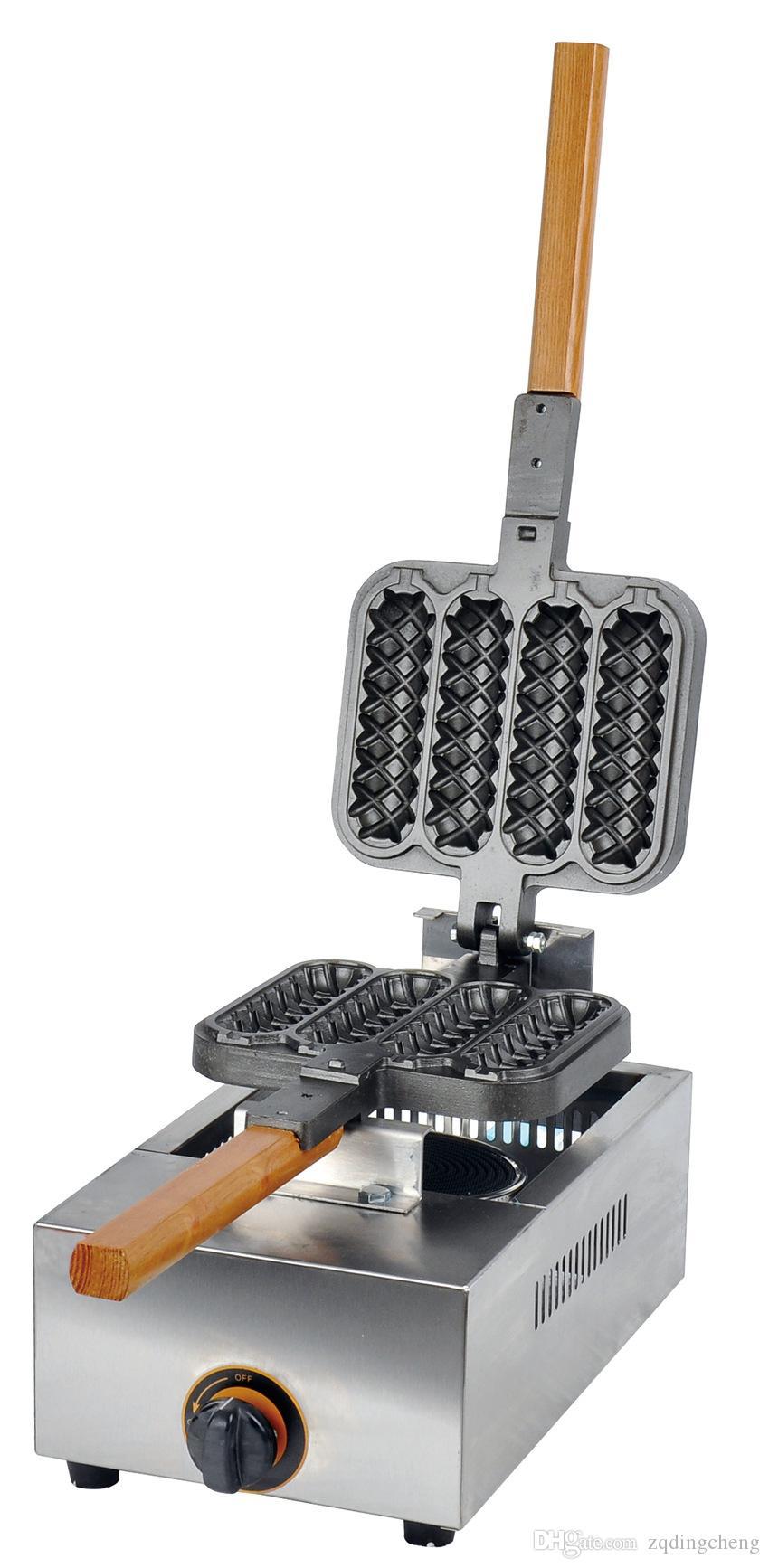 Spedizione gratuita ~ Gas lolly waffle maker waffle machine / francese hot dog maker / waffle ferro, trasporto veloce da fedex