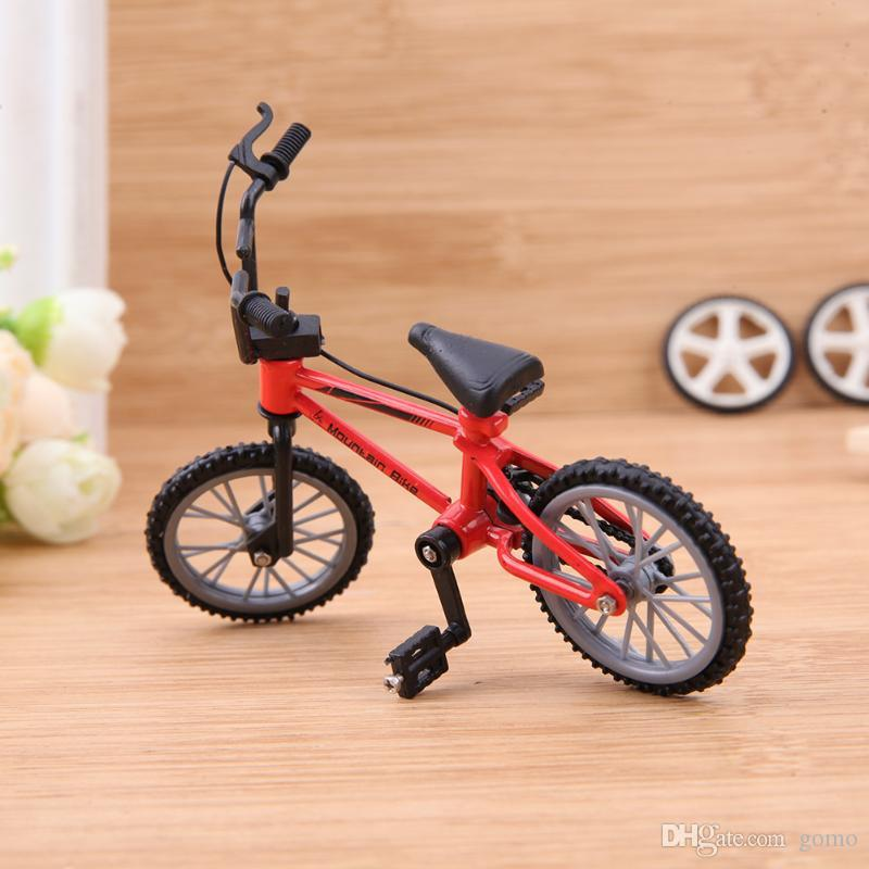 Mini Simulation Climb Bike Metal Bicycle Model Kids Toy Remote Control Car Home Desktop Ornaments RC Car Decor Parts