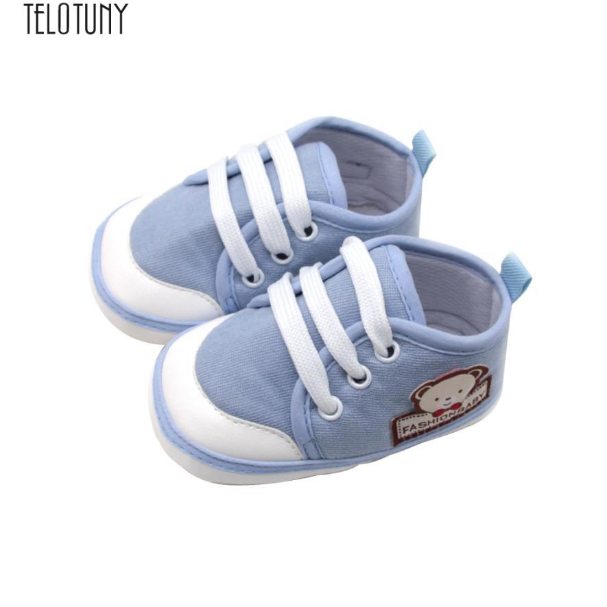 85c9c21a2a561 2019 Arloneet Newborn Baby Girls&Boys Soft Solid Shoes Bear Letter Print Footwear  Crib Shoes L0810 From Curd, $38.35 | DHgate.Com