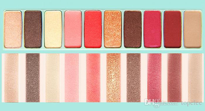 Высокое качество Ново макияж 10 цветов тени для век палитра с макияж кисти профессиональная косметика 6 стиль палитра бесплатная доставка