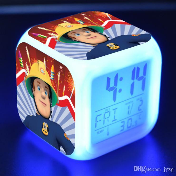 Großhandel 8 Cm Feuerwehrmann Sam LED Wecker 20 Arten Multifunktions ...