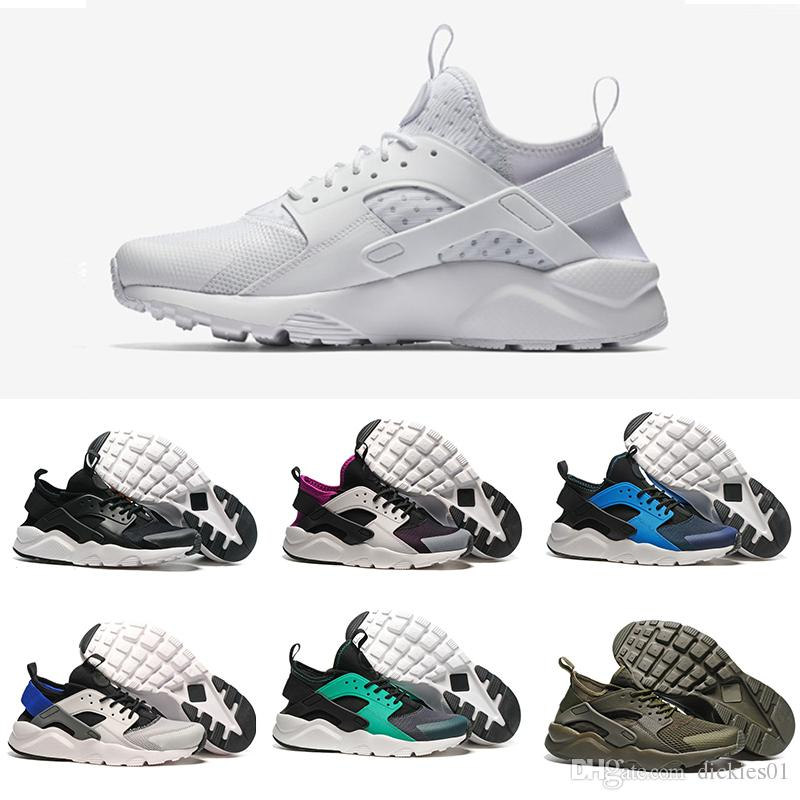 newest 47cf9 c5bfe Acquista Nike Air Huarache Run 2019 Nuove Scarpe Da Corsa Huaraches Ultra I  IV 4 Uomo Donna Nero Bianco Scarpe Sportive Oregon Huarache Sneakers Top  Quality ...