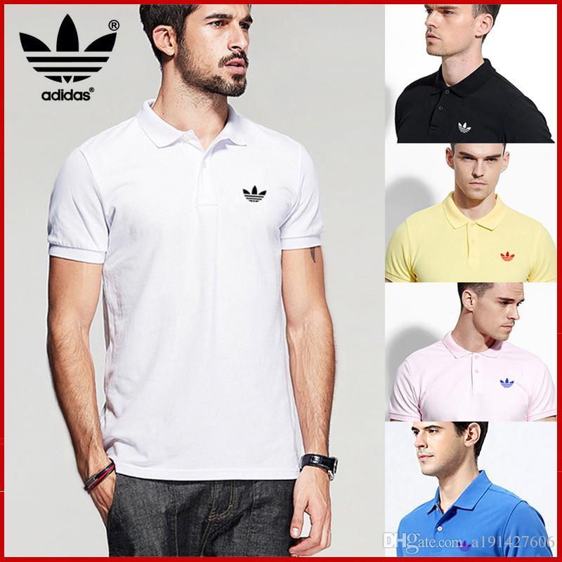 73d03909e60 18ss Designer Polo Shirts Summer Hot Sale Boss Lapel Polos Cotton ...