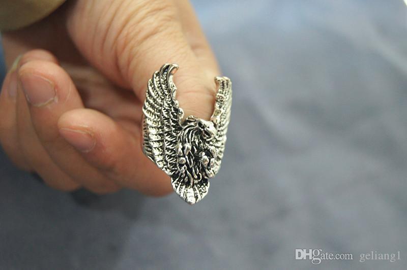 Ringer Brąz Eagle Pengcheng Wan Ring. Pierścień jest pierwszym wyborem mężczyzny.
