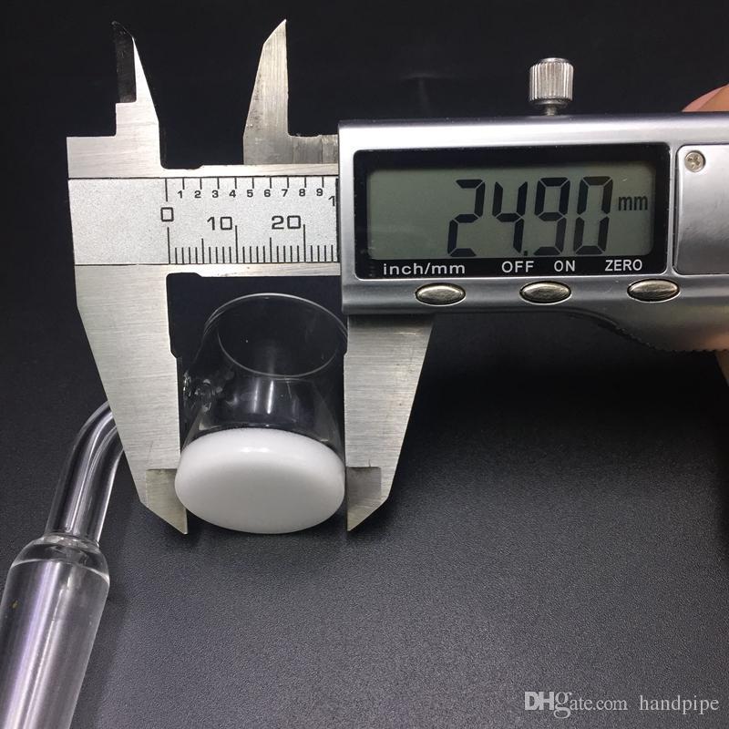 XL 25MM Opaque Quartz Banger with Carb Cap Gavel Nail 4mm Thick White Bottom Flat Top Core Reactors Quartz Nail for Glass Bong