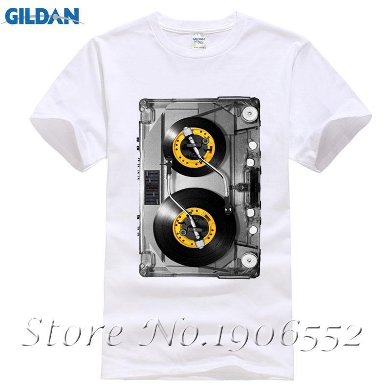 544a90df8 New Arrival DJ Tape Men'S T Shirt Herren Fotodruck Mc Music Disco Fashion  Design Printed 100% Cotton T Shirt White Basic Top Tee Fun T Shirt Buy  Online T ...