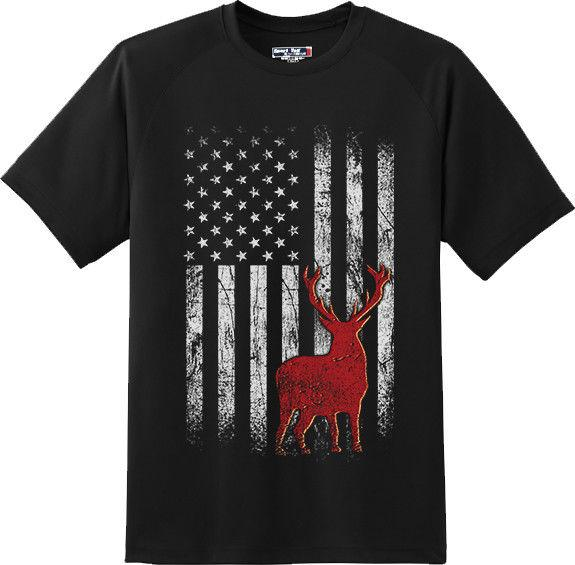 af46da889d7e Deer American Flag Hunting Patriotic Cool Gift T Shirt New Graphic Tee T  Shirt Casual Short Sleeve For Men Clothing Summer Dress Shirt Cheap T Shirts  From ...