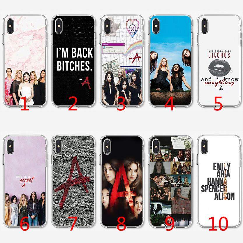 huge selection of 80571 f927c Pretty Little Liars Sexy Soft Silicone TPU Case for iPhone X XS Max XR 8 7  Plus 6 6s Plus 5 5s SE Cover