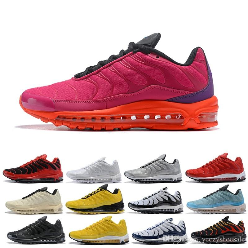 TN 97 Plus Mens Running Shoes Fire Red Light Green Core Triple Black White  Yellow Womens Fashion Trainer Sports Sneakers 36 46 Men Running Shoes Best  ... 2f3eefafa