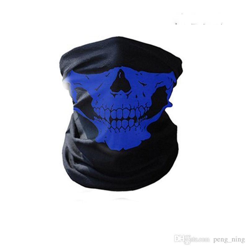 16-in-1 Multifunctional da máscara do crânio Máscaras Halloween metade do rosto - Sports Magia lenço Headband Headwear Lenço de Outdoor branco, vermelho, rosa, G