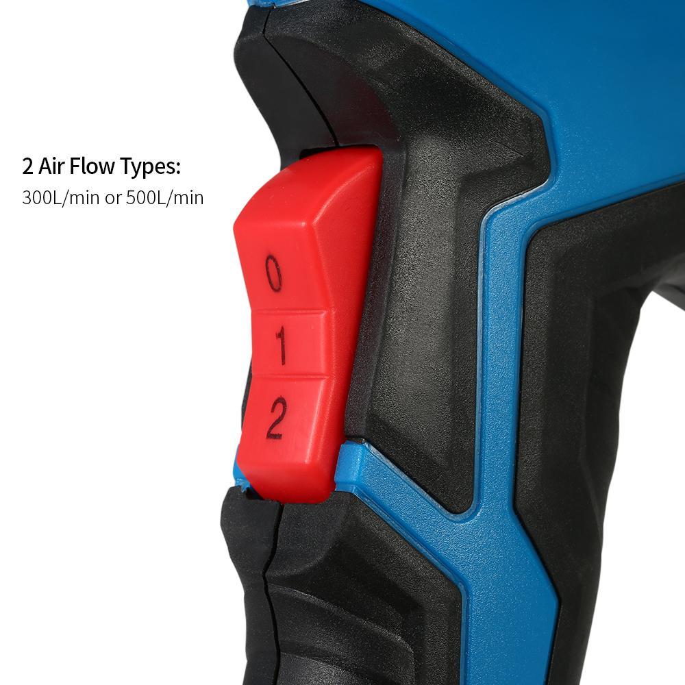 Pistola de aire caliente eléctrica Pistola de calor controlada por temperatura Herramientas de soldadura de soldadura Temperatura dual Pistola de calor ajustable Herramienta AC220V