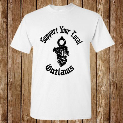Outlaws MC Support Your Local Outlaws New T-shirt Unisex
