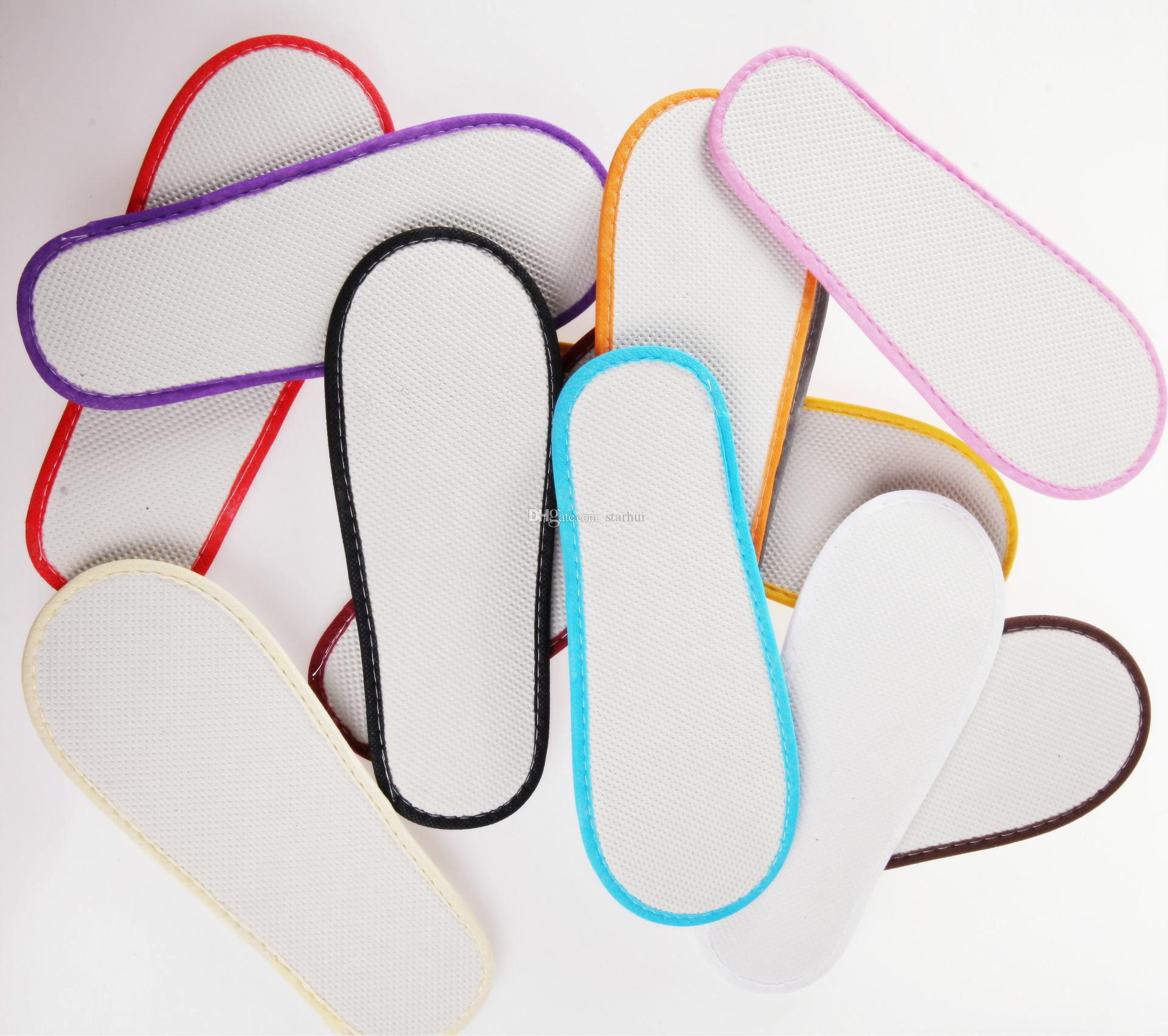Bath Disposable Slippers Hotel Towelling Slippers EVA Slipper Men Women Flip Flop White Multi color Indoor Cheap Slipper Free DHL WX9-441