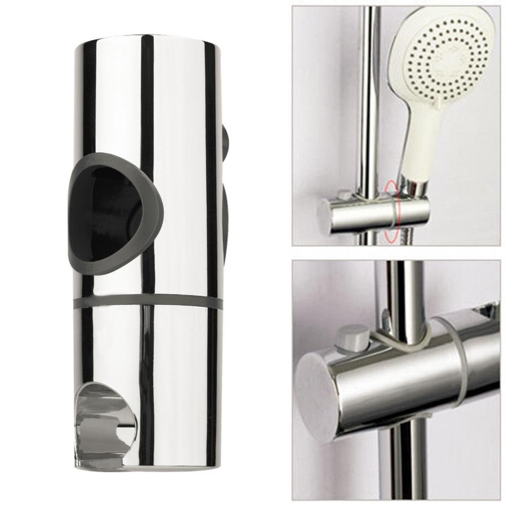 2018 25mm Abs Chrome Shower Rail Head Slider Holder Shower Holder ...