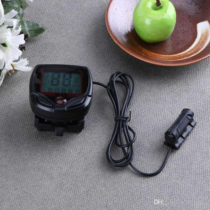 Waterproof Bike Computer Bicycle Meter Odometer Speedometer Cycling Computer Velocimetro Wired Stopwatch LCD Display Promotion