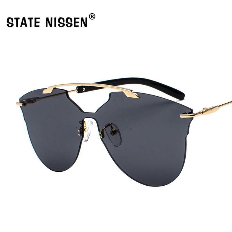 619ba24b7b Cheap STATE NISSEN Fashion One Piece Rimless Sunglasses Women Brand  Designer Fashion Female Sun Glasses Shades Eyewear Femme Oculos