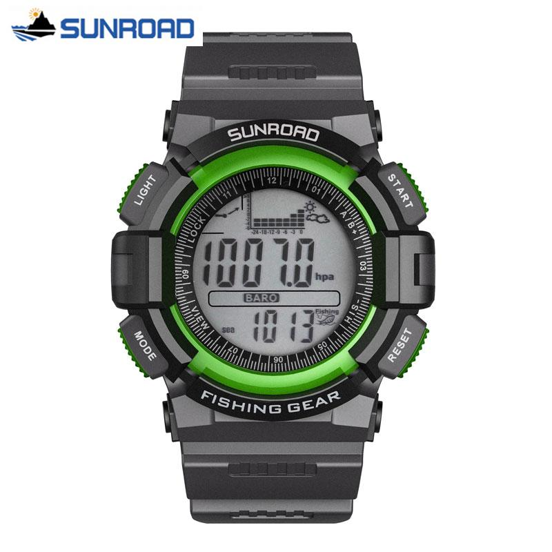 5eb3e46d848 Compre Sunroad Homens Relógio Digital De Pesca Barómetro Altímetro  Termômetro Altitude Caminhadas Esporte Relógio De Pulso Relógio Saat Relogio  Masculino De ...