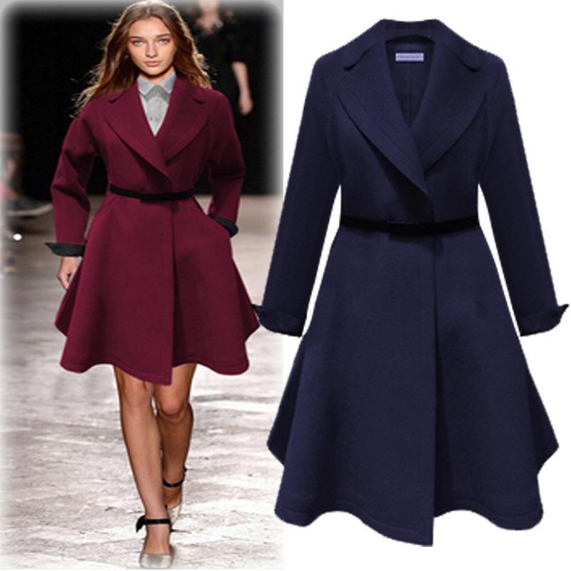 8902383673159 2019 Plus Size Casual Women Trench Coat 2017 Autumn Fashion Waisted Slim  Elegant Coats Winter Big Size Female Outerwear With Belt From Yakima