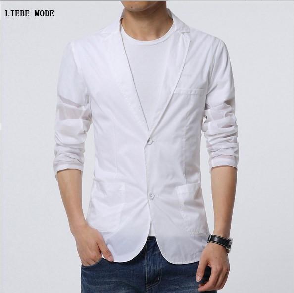 e8ee90a9eca New 2017 Summer Sunproof Jacket Thin White Blazer Man Plus Size 6XL ...