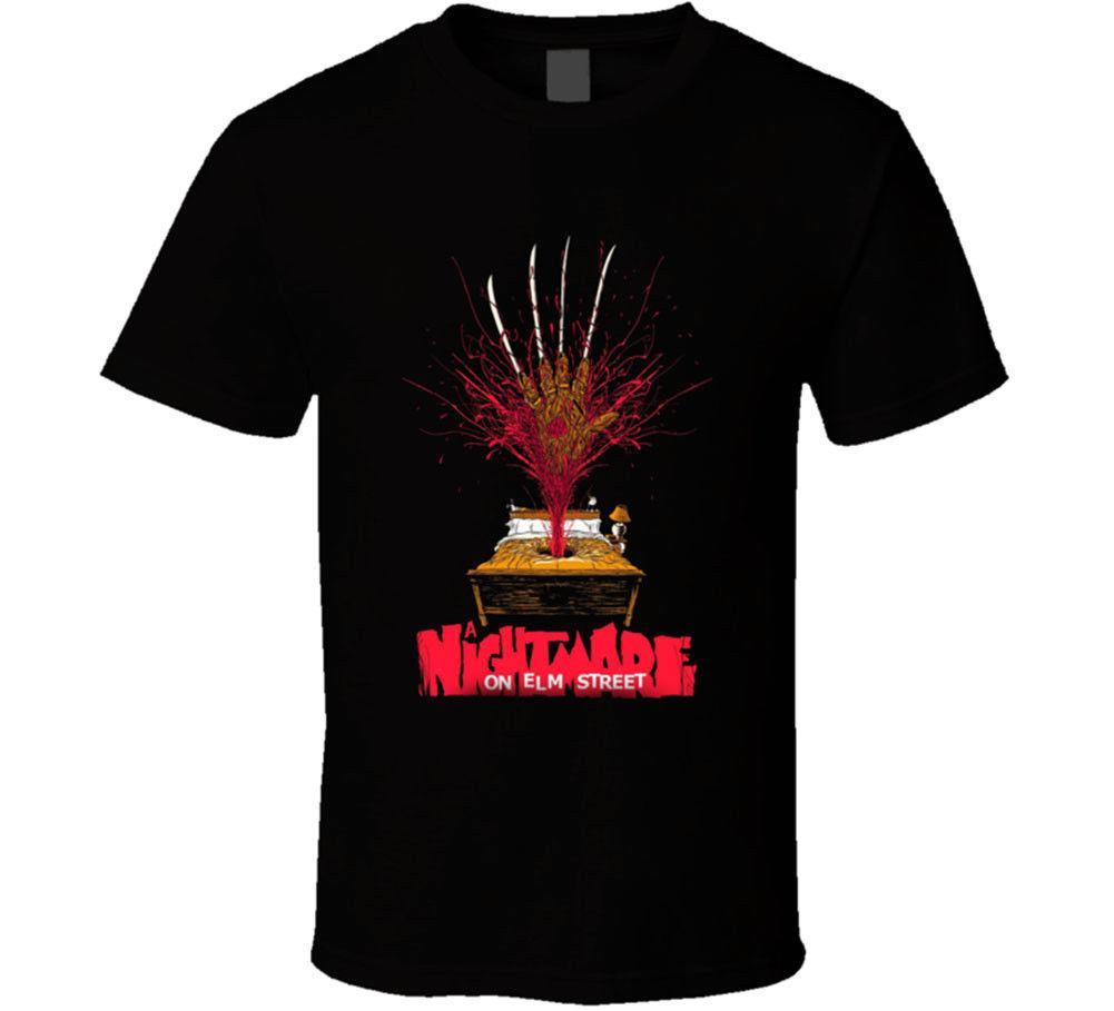 0101fbca670 A Nightmare On Elm Street Men S Black T Shirt 80s Horror Movie Halloween  New T Shirts Short Sleeve Leisure Fashion Summer Awesome T Shirt Designs  Tea Shirts ...