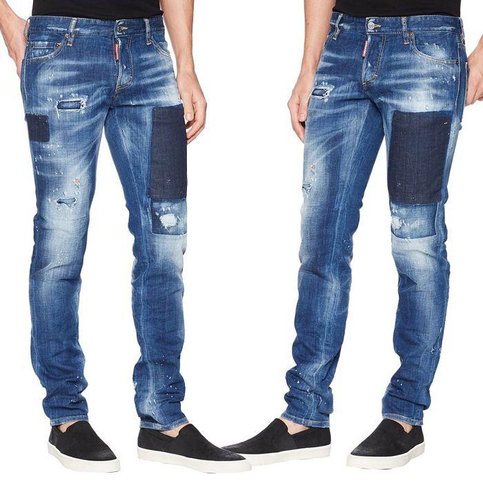 90b0d1b7cc Großhandel Cowboy Hosen Mann Distressed Whisker Washed Slim Fit Gelb Patch  Button Fly Jeans Männer Von Itdesign, $45.69 Auf De.Dhgate.Com | Dhgate