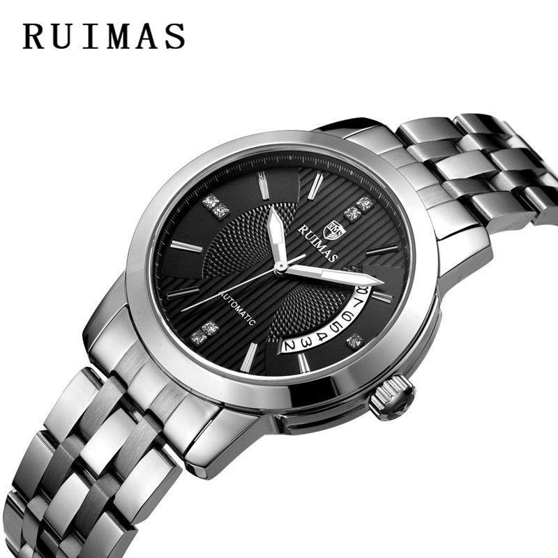 65bafadb98fd1 Compre Homens De Negócios Clássico Relógio Mecânico Vestido Top Luxo Senhor  Cavalheiro Calendário Relógios De Pulso Ruimas Casual Relogio Masculino  Reloj De ...