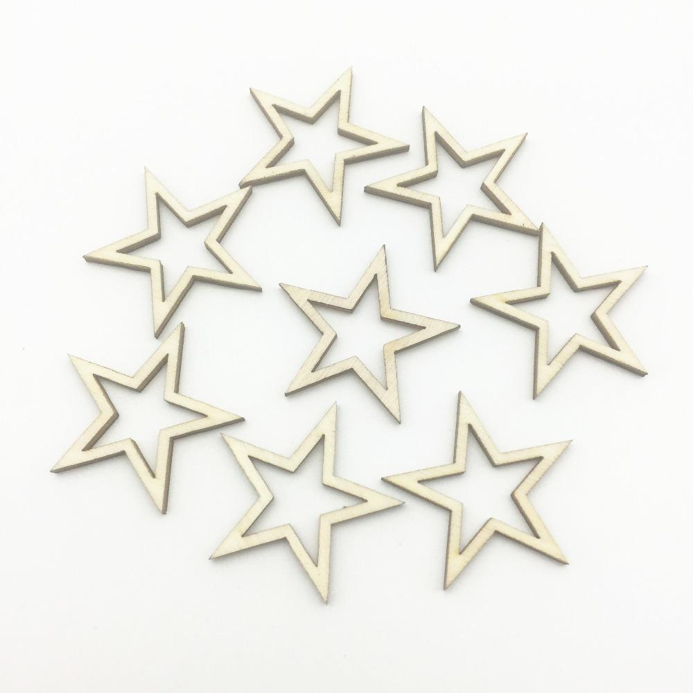 2019 32mm Natural Hollow Cutout Wood Stars Table Confetti Diy Crafts Embellishments Christmas Decorationster From Suozhi Dhgate Com