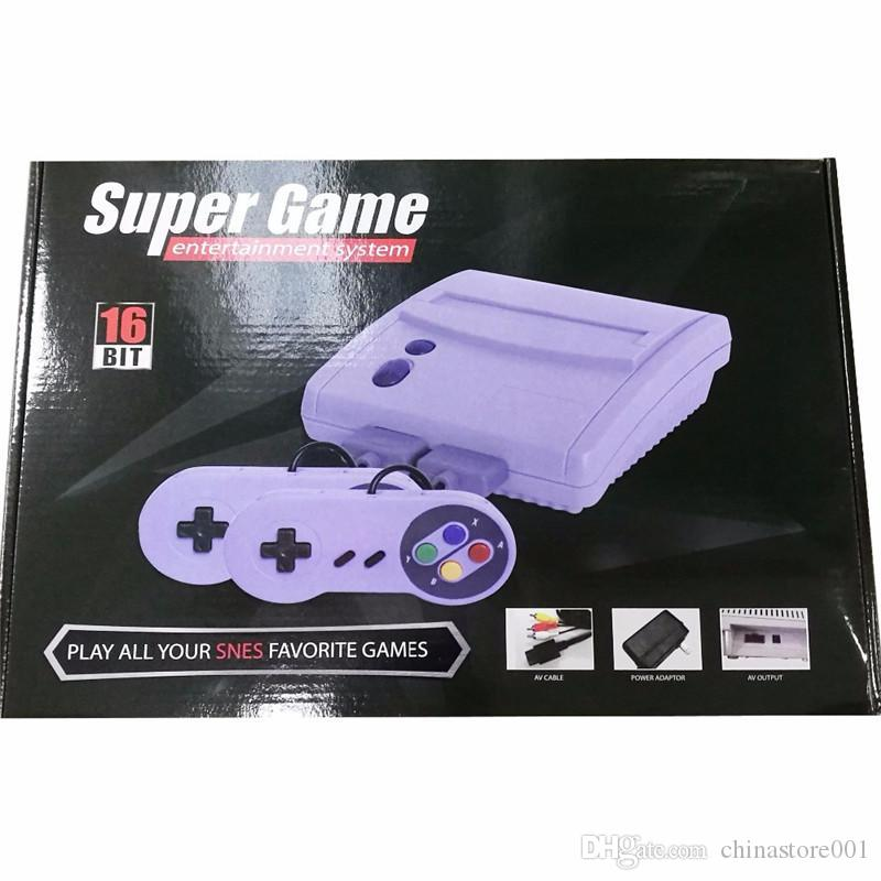 16Bit Super Mini SFC TV Classic Game Consoles For 2018 Newest 64 SNES Super  16 bit Games Entertainment System Console High Quality
