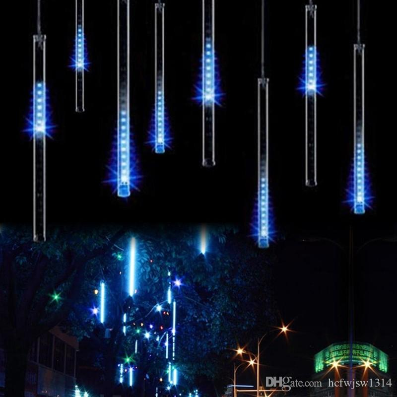 50cm 240led Meteor Shower Rain Tube Led Christmas Light Wedding Party Garden Xmas String Light Outdoor Holiday Lighting 100 240v