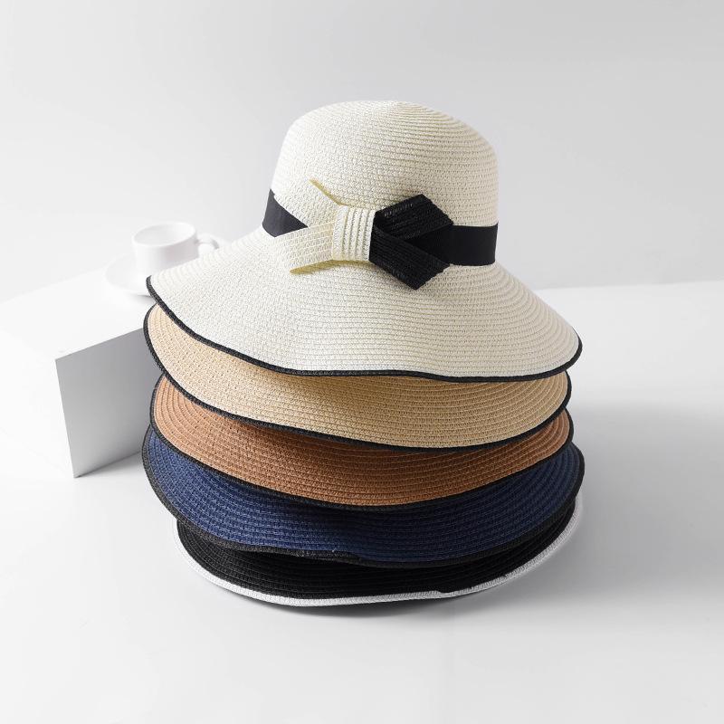 a89498c536eaa Mingjiebihuo Fashion Women Summer Straw Hat Female Travel Outdoor ...