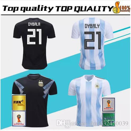 huge selection of c9ef9 b06d4 2018 World Cup Argentina away Jersey MESSI DYBALA DI MARIA AGUERO HIGUAIN  soccer shirt home national team Football jersey