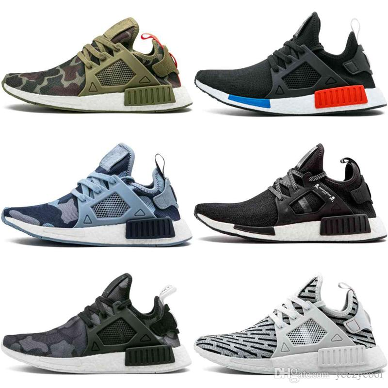 buy popular bb770 828ff NMD XR1 Primeknit OG PK Mastermind Japan Bred Blue Shadow Noise Duck Camo  Core Black Fall Olive Discount Cheap Running Shoes Sneakers US5-11