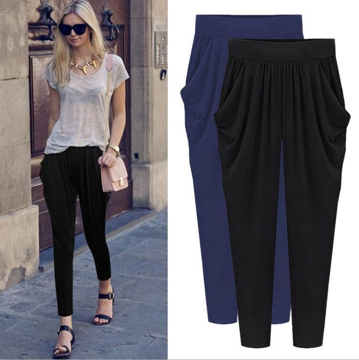 b7c1da5cce08 M-8XL Plus Size Women Pants Bestselling Summer Autumn Harem Pant ...