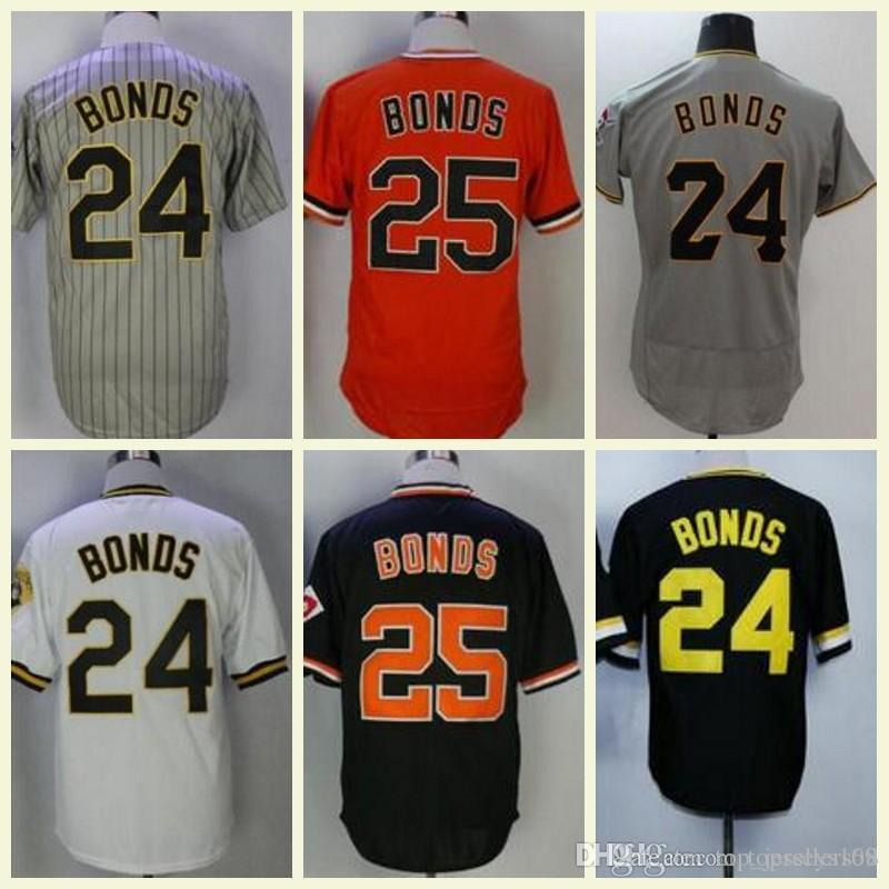 225262faf 2019 Retro Barry Bonds Jersey San Francisco  25 Barry Bonds Baseball Jersey  Black White Yellow Vintage Pullover Button 100% Stitched From  Top jerseys168