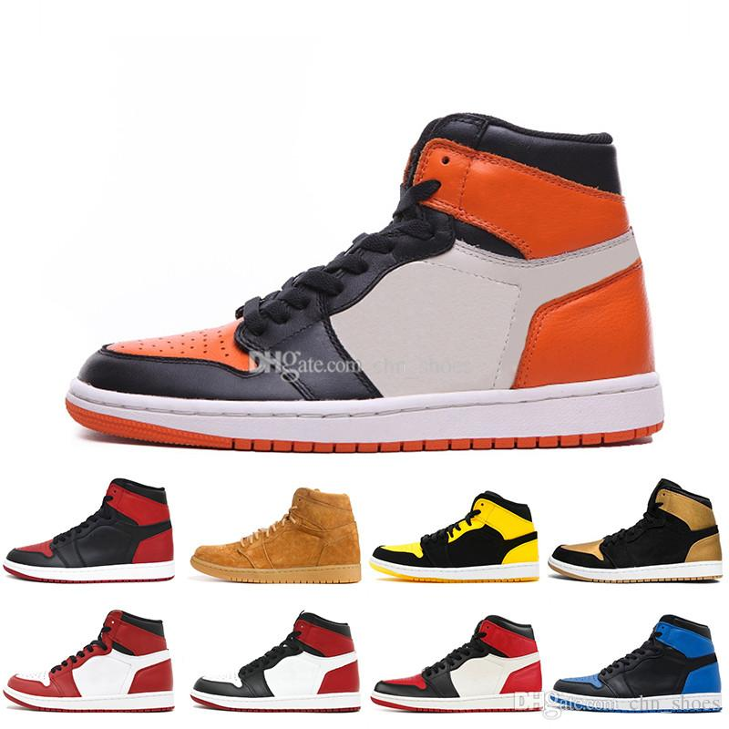reputable site 176b6 ef265 OG 1 Men Basketball Shoes Shattered Backboard Orange Black White Fragment  Chicago Melo Top 3 Barons Pass The Torch Homage To Home 1s Sneaker