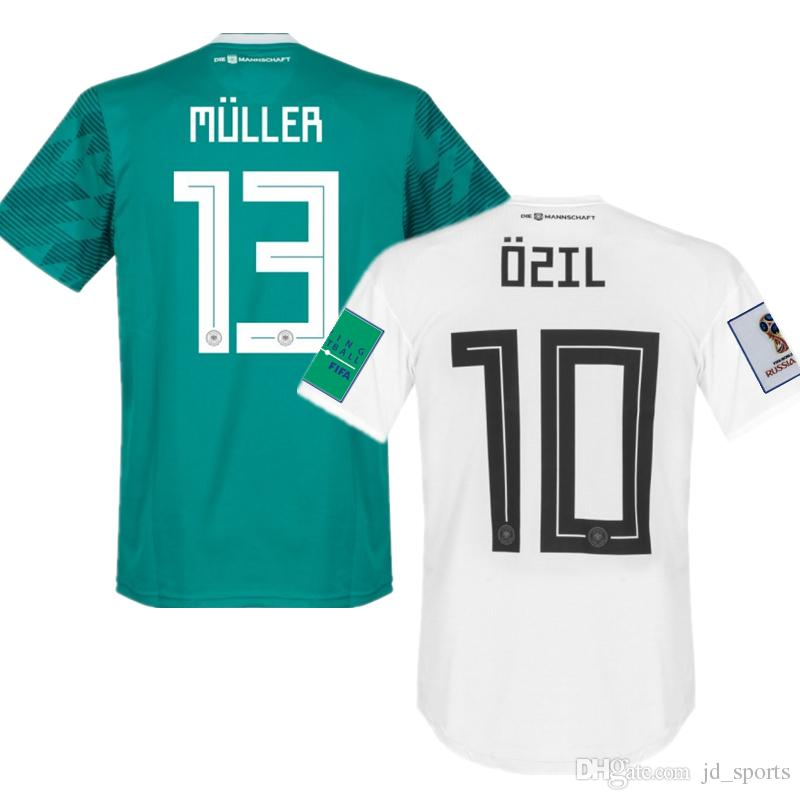 2019 2018 World Cup Home Away Soccer Jerseys Germany Muller Reus Ozil Futbol  Camisa Football Camisetas Deutschland Shirt Kit Maillot From Jd sports 49cc3a9bc2fee