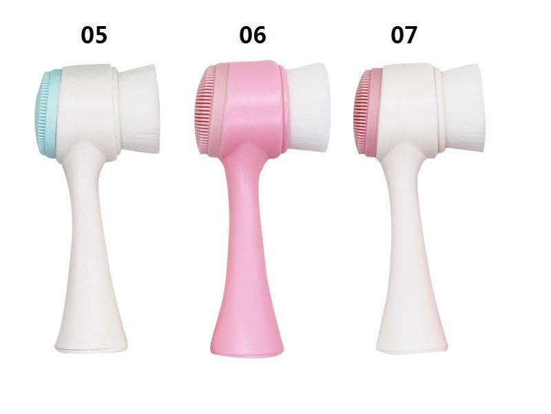 3D ضعف الجانب غسل الوجه فرشاة الجلد منظف مقشر الوجه آلة تنظيف فرشاة غسل الوجه المنتج