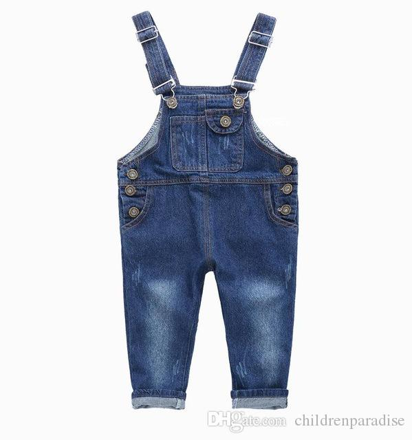 8fd85eca6 Fashion Kids Denim Jumpsuit 2 3 4 5 6 7 8 9 Years Children Overalls ...