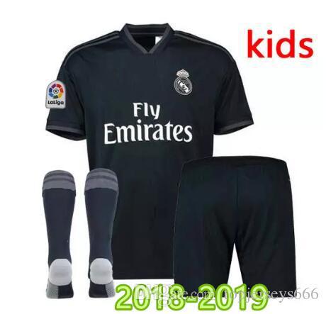 Großhandel Real Madrid Fußball Trikot Kinder Set 2018 2019 Neu