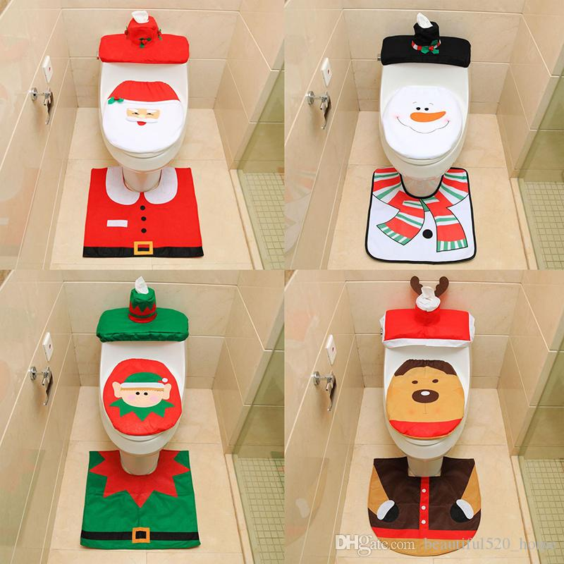lovely closestool christmas decoration non woven fabric bathroom christmas ornament indoor xmas decoration bh18075 closestool christmas decoration bathroom