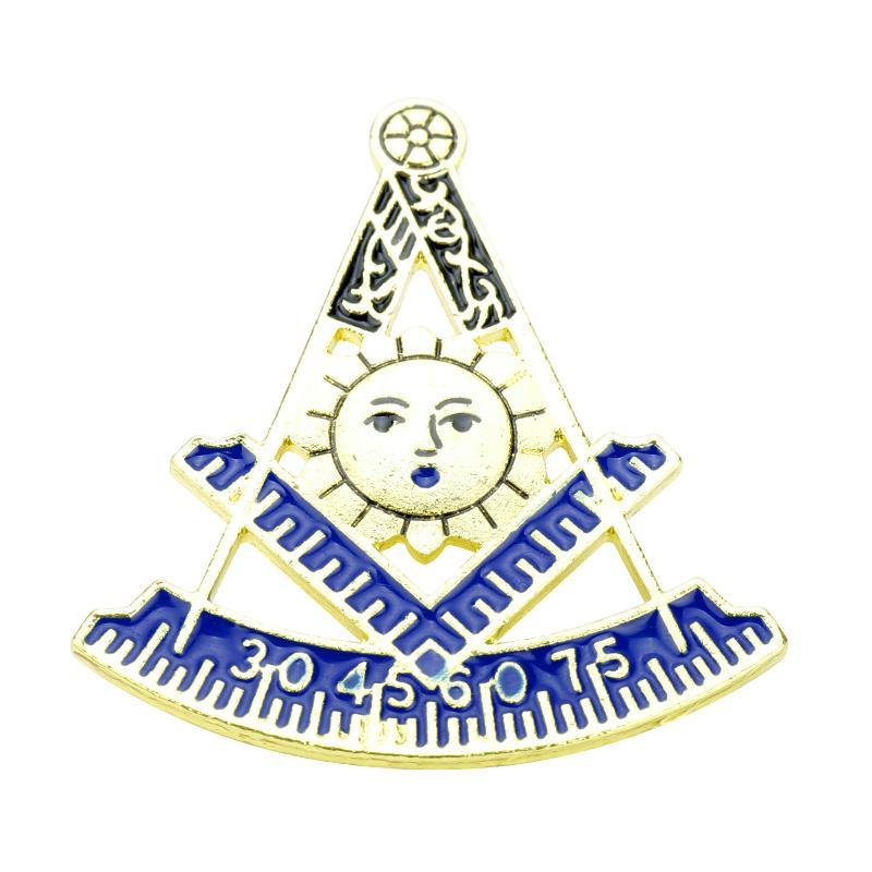 2018 Mqchun Gold Masonic Lapel Pins Free Masons Badge Brooch Pins