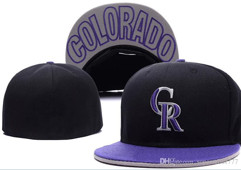 Fitted Hats Sunhat Rockies Hat Cap Team Baseball Embroidered Team Flat Brim  Hats Baseball Size Cap Brands Sports Chapeu For Men Women Fitted Hats  Baseball ... e8bd39eb17c