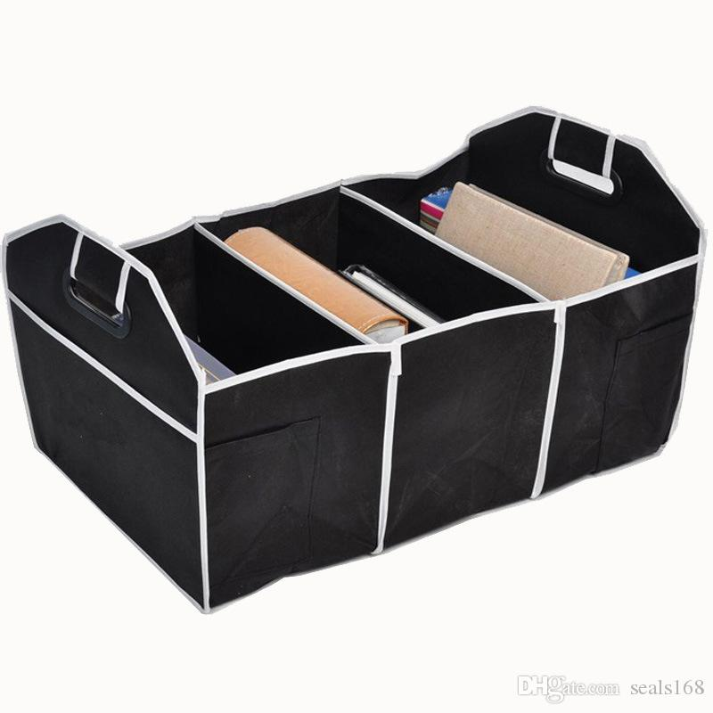Foldable Car Storage Boxs Bins Trunk Organizer Toys Food Stuff Storage Container Bags Auto Interior Accessories Case Can FBA Ship HH7-472