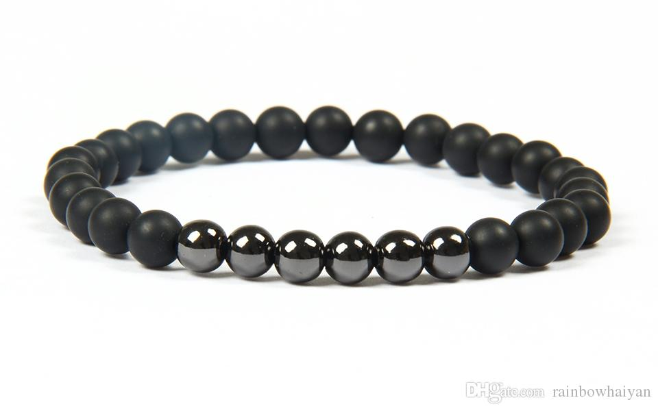 Hot Sale Jewelry Wholesale /6mm Natural Tiger Eye & Matte Stone beads Top Quality Stainless Steel Skull Beaded Bracelets