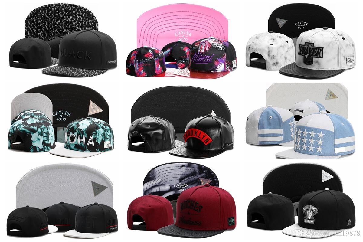 307e0fadb70 High Quality Unisex 100% Cotton Cayler   Sons Outdoor Baseball Caps Skull  Embroidery Snapback Fashion Sports Hats For Men   Women Cap Fitted Caps  Black ...