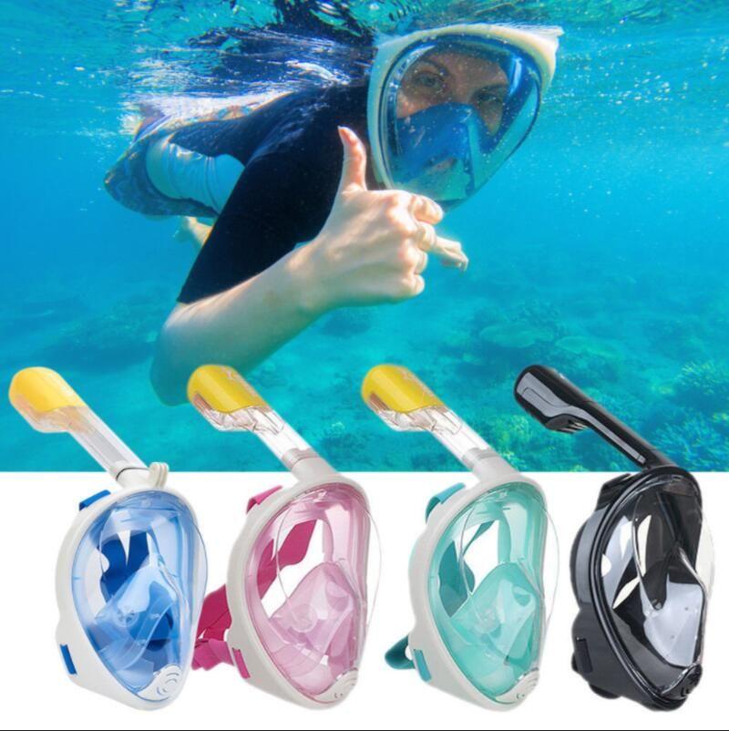 175238f9d SWIMMING FULL FACE SNORKEL MASK DIVING SNORKEL SCUBA Diving Mask Underwater  Scuba Diving Mask KKA4426 Diving Mask Scuba Mask Snorkel Online with ...
