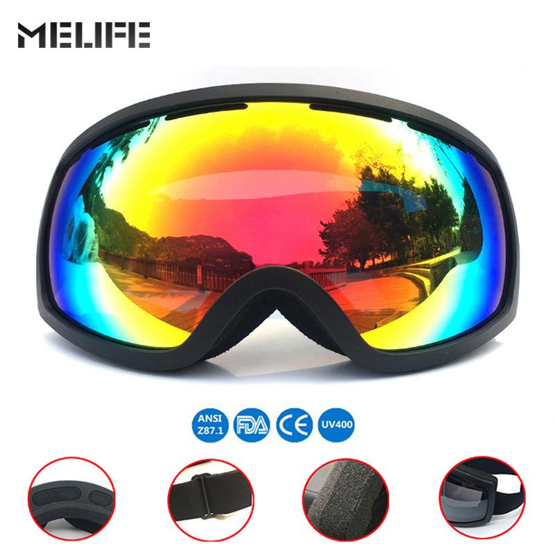 6d96ddd7540 MELIFE UV400 Protection Anti-fog Snowboard Skiing Goggles 2019 ...