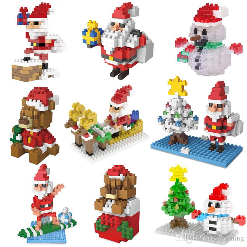 2018 lego toys santa creative gifts for christmasdecorations gifts for childrentoys christmas tree ornamen walletts santa christmas toys online with - Christmas Toys