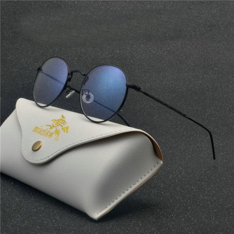 280565af273 Brand Plain Glasses Frames Women Alloy Retro Eye Glasses Metal Round ...